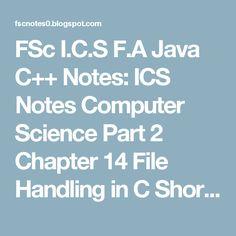 file handling in c++ notes pdf
