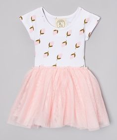 Look at this Taylor Joelle Designs Pink & White Mod Rosebud Tutu Dress - Infant, Toddler & Girls on #zulily today!