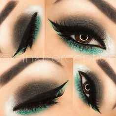 Green eyes makeup ❤ liked on Polyvore featuring beauty products, makeup and eye makeup