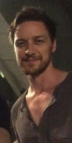 codenamecesare: theletteraesc: samerulesapply: sherlocksmoustache: This is from my friend's photo with James McAvoy (she met him outside of the National Theatre, 05/08/14). I thought this thing of beauty needed to be shared. I need this like air, he looks so hot. button your shirt sir DON'T LISTEN THROW YOUR BUTTONS AWAY