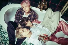 Jin, Suga and Jimin ❤ (WHAT THE HELL IS THIS! JIN LOOKS HELLA FINE AND THEN WE HAVE YOONMIN DOING WHATTTT) WINGS Concept Photo Special #BTS #방탄소년단