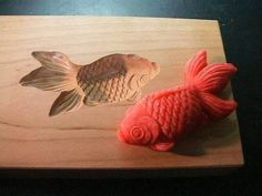 For making goldfish cookies? Japanese Sweets, Japanese Wagashi, Japanese Food, Dutch Cookies, Making Sweets, Japon Tokyo, Springerle Cookies, Food Mold, Butter Molds