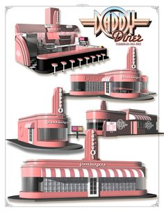 "Members of HungryGenius® are former National Restaurant Franchisors. HungryGenius® is a 5 CLIO Award Winning Creative Team that specializes in Enterprise Conceptioneering. HungryGenius® has prepared the NATIONS FIRST ""DISASTER RESISTANT RESTAURANT DESIGNS shown on our 'Designs' page dubbed The DaddyO Dome! American Diner, Design Show, Restaurant Design, Espresso Machine, Creative, Espresso Maker"