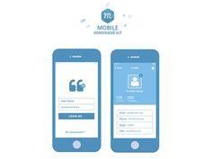 Free Mobile Wireframe Kit #freebies