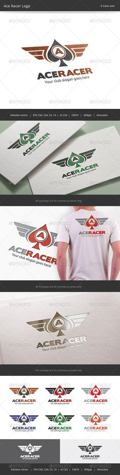 Ace Racer Logo — Vector EPS #cafe #ace • Available here → https://graphicriver.net/item/ace-racer-logo/8004908?ref=pxcr