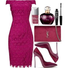 Untitld#1433 by mihai-theodora on Polyvore featuring moda, Adrianna Papell, Casadei, Yves Saint Laurent, NYX and Christian Dior