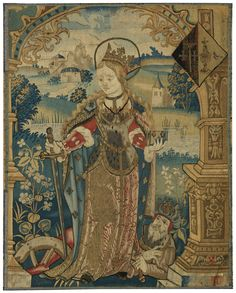 ecclesiastical ||| sotheby's n08825lot6b2yfen Textile Tapestry, Tapestries, Saint Catherine Of Alexandria, Medieval Tapestry, Old Paintings, Art Deco Period, Gothic Art, Old Master, 16th Century