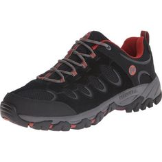 Merrell Ridgepass Gore-Tex | Men's Hiking Shoes | Black/Red Ochre Color