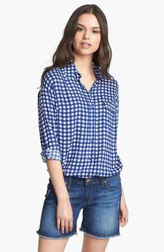 Splendid Gingham Check Shirt available at #Nordstrom #fashion #splendid