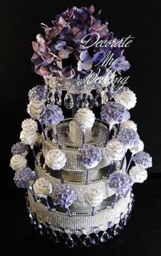 DECORATE MY WEDDING Crystal Cake Pop Display Stands