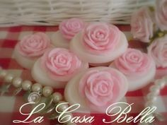 Gastenzeepje wit-roze