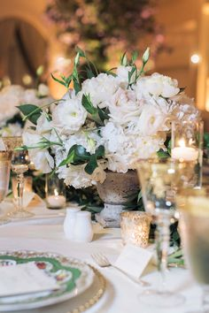 Blush-Tone+Centerpieces+with+Natural+Greenery