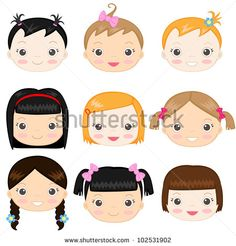 Face Girls Stock Photos, Images, & Pictures   Shutterstock