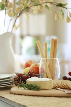 Fall Home Tour 2015 - A Thoughtful Place I Like Cheese, Meat And Cheese, Wine Cheese, How To Make Cheese, Making Cheese, Cheese Snacks, Cheese Platters, Amuse Bouche Ideas, A Thoughtful Place