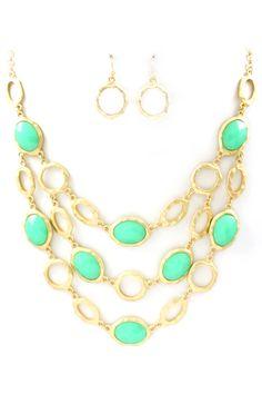 Turquoise Ova Necklace Set | Awesome Selection of Chic Fashion Jewelry | Emma Stine Limited