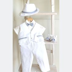5cef87ea358 Items similar to Louie Boys Christening Outfit