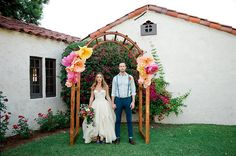 Bright and Colorful Wedding Design/Planning by 'Cause We Can Events Photo by Red Anchor Photo