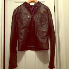 Woman's black leather jacket Lightly worn. Excellent condition! Vita Jackets & Coats