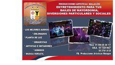 Producciones Artísticas Malagón organiza y produce espectáculos para fiestas patronales, fiestas particulares y eventos sociales. http://negocilibre.com/directorio/producciones-artisticas-malagon/ https://www.facebook.com/Produccionesmalagon1/?fref=ts