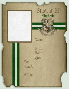 Slytherin ID Resources Pack by imacrazytrekkie