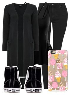 """""""I hate my job"""" by nikikaren ❤ liked on Polyvore featuring Topshop, Doublju, Converse and Casetify"""