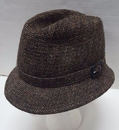 2f8249988fe Hatters London Brown Tweed Wool Hat Size 7 Brooks Brothers England