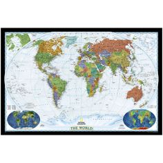 World Political Map (Bright-Colored) | National Geographic Store ($12.95)