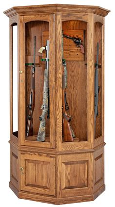 Solid Cherry & Walnut Gun Cabinet | Products I Love | Pinterest ...