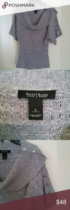 WHBM Sweater Beautiful Grey Sweater. Perfect condition! White House Black Market Sweaters