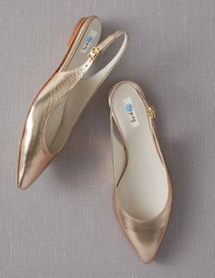 Rose Gold Metallic Slingbacks - these would be even better with a kitten heel