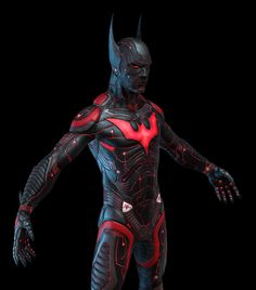Batman Beyond Redesign - not sure I like all the textural detailing. :/