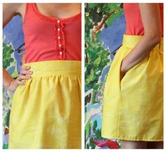 cute skirt and easy tutorial. with a hidden zipper! I think I could do this.