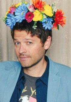 misha and his flower crowns