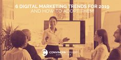 6 Digital Marketing Trends for 2019 and How to Adopt Them Digital Marketing Trends, Digital Marketing Strategy, Business Marketing, Internet Marketing, Media Marketing, Social Media Updates, Social Channel, Seo Consultant, Marketing Consultant