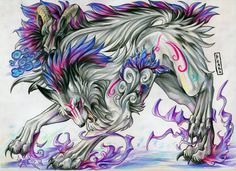 Fire Wolf | Purple Fire Wolf Graphics Code | Purple Fire Wolf Comments & Pictures