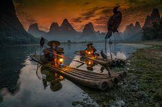 sunset in yangshou guangxi china by enrico barletta on 500px