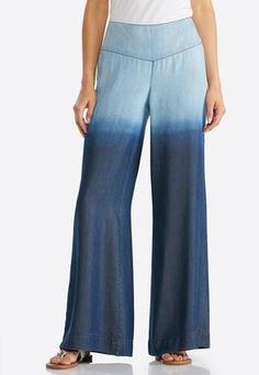 24156c09c08 Cato Fashions Wide Leg Ombre Pants  CatoFashions Chambray