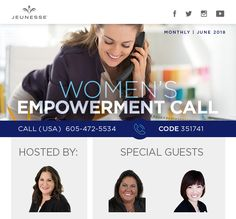 Women's Empowerment Call: Join us on June 21 and 22 Special Guest, Women Empowerment, June, Youth