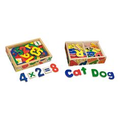 Melissa & Doug Deluxe Magnetic Letters and Numbers Set With 89 Wooden Magnets