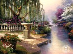 Thomas Kinkade - Can't find a name for this but I will update when I find it.