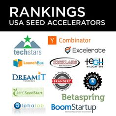Top 15 U. Startup Accelerators and Incubators Ranked; TechStars and Y Combinator Top The Rankings Startups, Entrepreneurship, Good Things, Usa, Tops, Pageants, Door Prizes, U.s. States