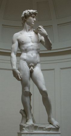 Michelangelo Buonarroti:1501-1504: David [High Renaissance; Florence, Italy] Michelangelo carved his 17-ft. tall marble statue of the Biblical hero David from a block of Carrara marble that other artists had abandoned.  Instead of showing David with the dead Goliath, as was standard, Michelangelo has depicted the hero in the moment after he has decided to fight the giant but before the actual battle.  The David was originally commissioned to be one of several statues on the roof of…