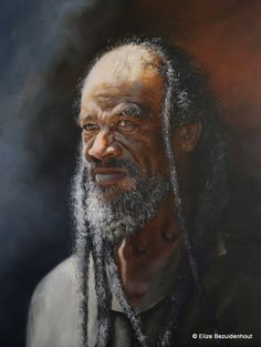 The Railway Worker. Oil on Canvas - by Elize Bezuidenhout. Black Art, Oil On Canvas, Artworks, My Arts, African, Portraits, Paintings, Artist, People