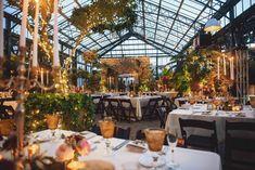 Elegant greenhouse/conservatory Michigan wedding reception - The Wedding Story of Steven Rosenblatt and Rachel Inwald | WeddingDay Magazine