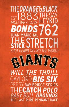 San Francisco Giants Poster!
