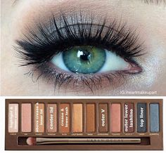 Natural look- urban decay naked palette 1 pictorial :) prom makeup, hair makeup Eyeshadow For Green Eyes, Makeup For Green Eyes, Love Makeup, Beauty Makeup, Makeup Looks, Makeup Ideas, Makeup Tutorials, Beauty Dupes, Green Eyes Pop