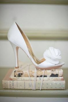 Bridal Shoes on Vintage books