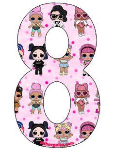Numeros de Munecas LOL Surprise para descargar gratis | Mi Barquito Barbie Birthday, 8th Birthday, Lol Doll Cake, Thankful Tree, Troll Party, Decoupage Vintage, Birthday Numbers, Lol Dolls, Birthday Images