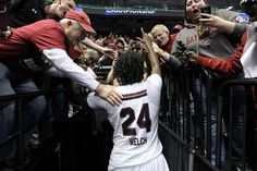 Gamecocks defeat North Carolina 67-65 and advance to the Elite Eight for the 2nd time in school history. 3/27/2015