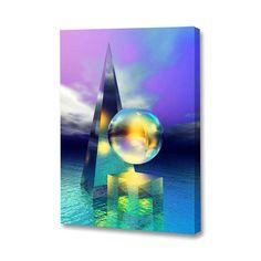 Three Forms Aqua - Menaul Fine Art: Abstract Art by Tampa Bay Artist Scott J. Mixed Media Techniques, Beautiful Words, Wrapped Canvas, Abstract Art, Aqua, Fine Art, Digital, Glass, Artwork